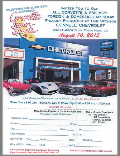 "COSTA MESA CA USA - ""Corvette Super Sports - All corvettes and pre-1975 foreign and domestic car show"" - Sunday, August 16 - 9AM to 2PM - credit: www.SoCalCarCulture.com • <a style=""font-size:0.8em;"" href=""http://www.flickr.com/photos/134158884@N03/20553720896/"" target=""_blank"">View on Flickr</a>"