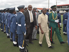 """Governor Adams Oshiomhole inspects the parade mounted by men of the Nigerian Armed Forces and the Police at a ceremony to celebrate Nigeria's 56th Independence Anniversary at the Samuel Ogbemudia Stadium, • <a style=""""font-size:0.8em;"""" href=""""http://www.flickr.com/photos/139025336@N06/30012103152/"""" target=""""_blank"""">View on Flickr</a>"""