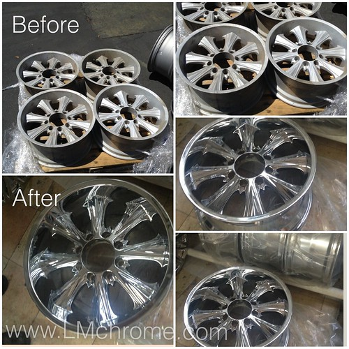 "BEFORE and AFTER Pics - You ready to chrome your wheels, We are. We Re-chrome your wheels rims and also offer repairs. Usually takes 5 working days. • <a style=""font-size:0.8em;"" href=""http://www.flickr.com/photos/134158884@N03/20574992371/"" target=""_blank"">View on Flickr</a>"