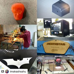 #Repost @imakashsahu  ・・・ Day 2 : Started with the Training of Fusion 360 an awesome think to work on followed by some yummy pav bhaji rolls in the Bombay Food Truck,  After which we had this great workshop on 3D Printing,  Laser Cutting,  Power Tool &  C