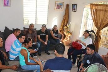 Reunión de trabajo con miembros potenciales Provincia Duarte.