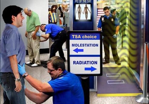 TSA Two Options, Molestation or Radiation