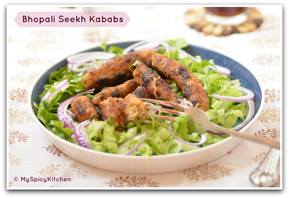 Chicken Kababs,  Blogging marathon