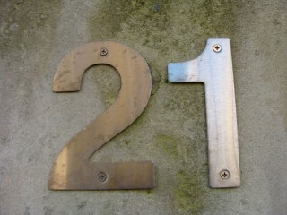 No 21 - worn brass
