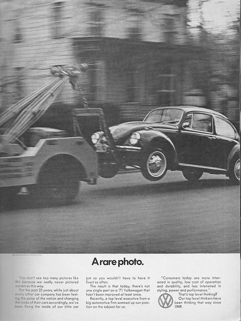 1971 Volkswagen Beetle Ad