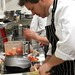 Chef Micahel Moffatt of Ottawa starts cooking out of the Black Box