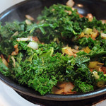 Kale with Onion and Green Garlic