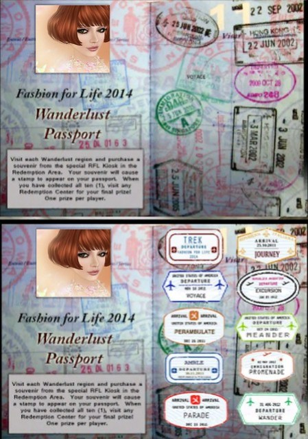 Fashion For Life Passport Game