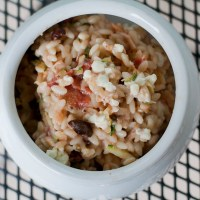 Mediterranean Orzo and Cheese with Chicken