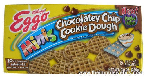 Kellogg's Limited Edition Eggo Minis Chocolatey Chip Cookie Dough