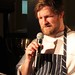 Jeremy Charles explains his dish to the crowd