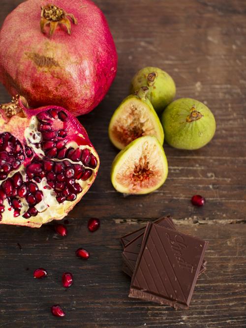 chocolate pomegranate pot de creme