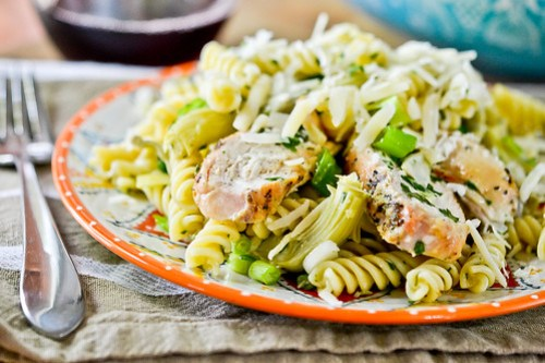 Grilled Chicken Pasta Salad with Artichoke Hearts-14