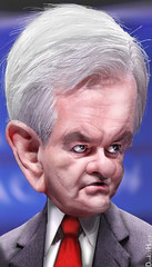Newt Gingrich - Caricature