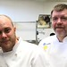 Chefs Lee Humphries and Robert Clark exhale after participating in the Black Box competition