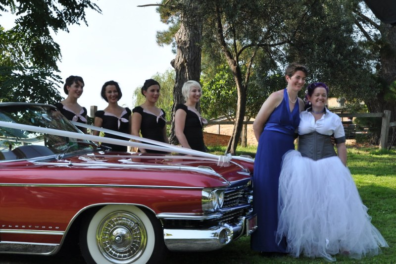 The car, the nymphs, the brides
