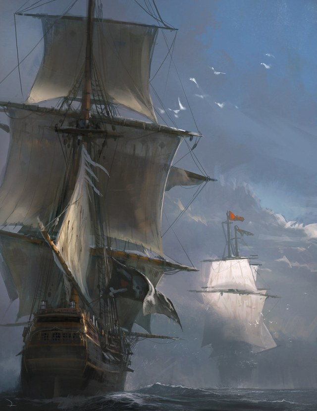 The Naval Duel - Assassin's Creed IV Black Flag by Martin Deschambault