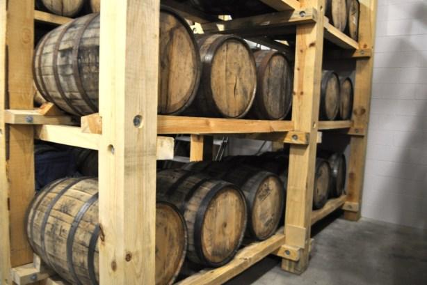 Bayou Rum Aging in Oak Barrels at the Louisiana Spirits Distillery