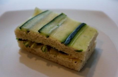Green Pea Shoots, Endive, Cucumber & Cream Cheese