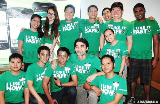 The Green Team GrabTaxi family headed by Anthony Tan (2nd from right, standing) with Roderick Adonis, Abel Matias, Dennis Aranes, Joaquin Coromina, Rose Perea, Harold Tangan (all from lower row), Maricel Turallo, Natasha Bautista, Franco Varona, Jesse Maxwell, Brian Cu, and Suthen Thomas (standing).