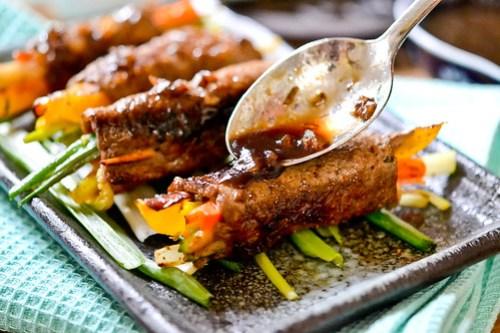 Balsamic Glazed Steak Rolls-9