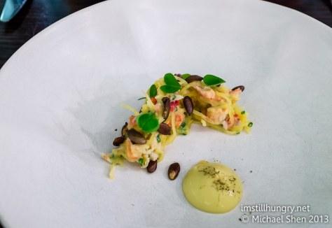 Bentley's Starter - spanner crab w/spaghetti squash & yuzu