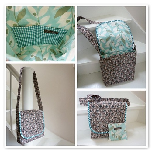 Leafy messenger bag mosaic