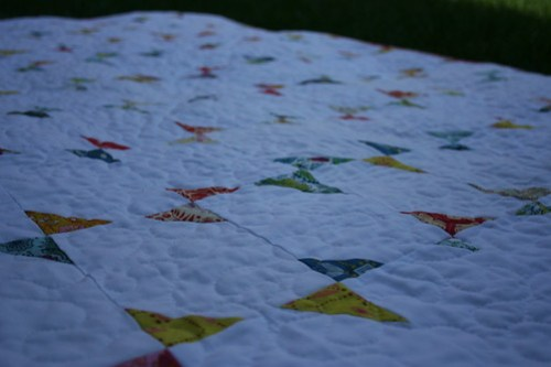 Becky's Quilt in the grass