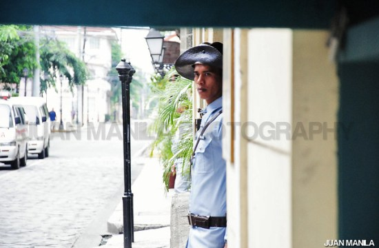 A sample of Environmental Portrait capturing a dressed Katipunero soldier guarding the walled city.