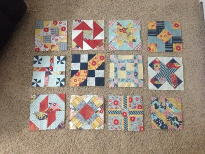 Blocks 1-12 for the Virtual Quilting Bee