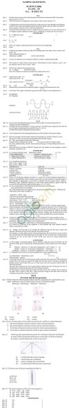 CBSE Sample Papers for Class 9 SA2 2014   Science