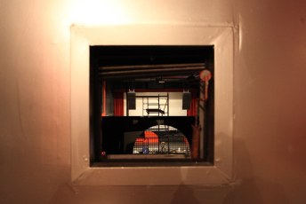 The old projection box | The Fox Cabaret