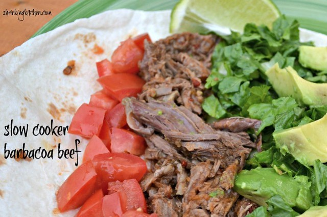 Slow Cooker Barbacoa Beef - Shrinking Kitchen