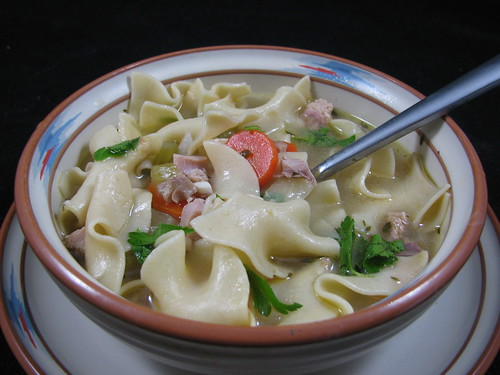 Smoked Turkey Noodle Soup