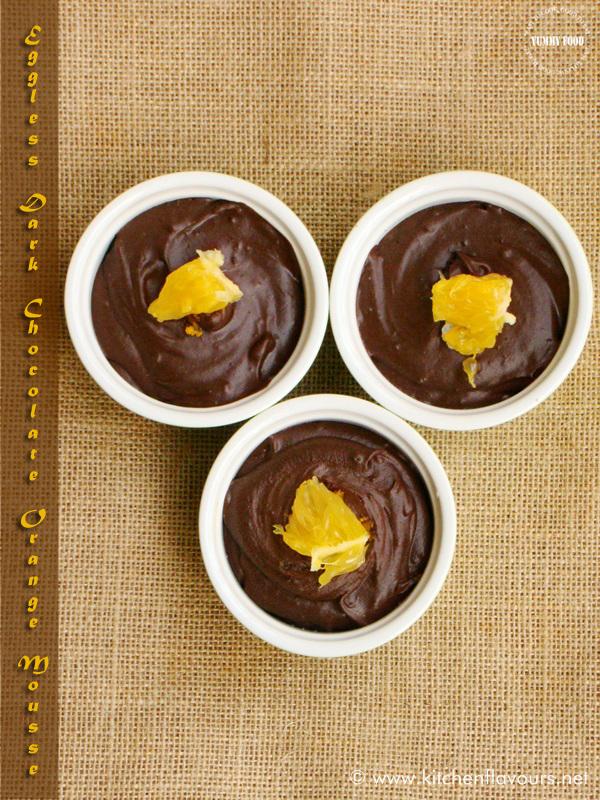 Eggless Dark Chocolate Orange Mousse