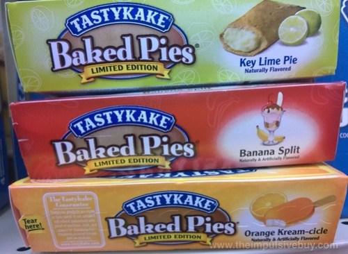 Tastykake Limited Edition Baked Pies (Key Lime Pie, Banana Split, and Orange Kream-cicle)