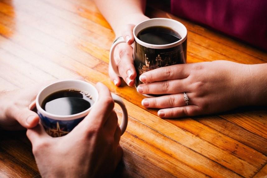 Mitchell and Sara: Coffee