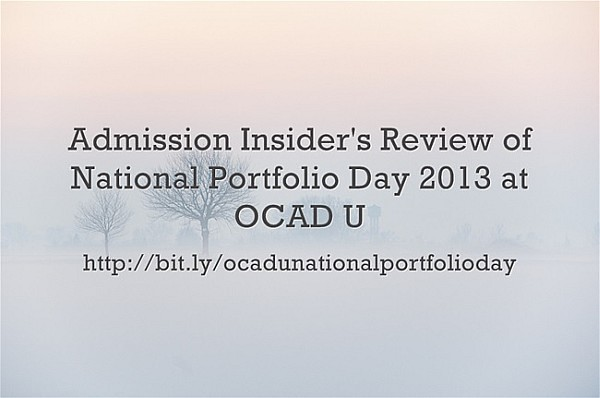 Admission Insider's Review of National Portfolio Day 2013 at OCAD U