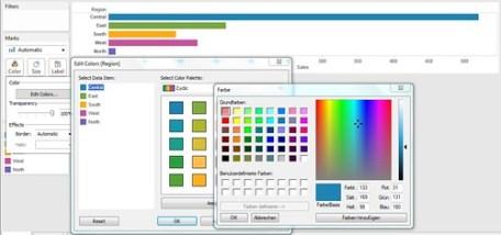 Define individual color palette