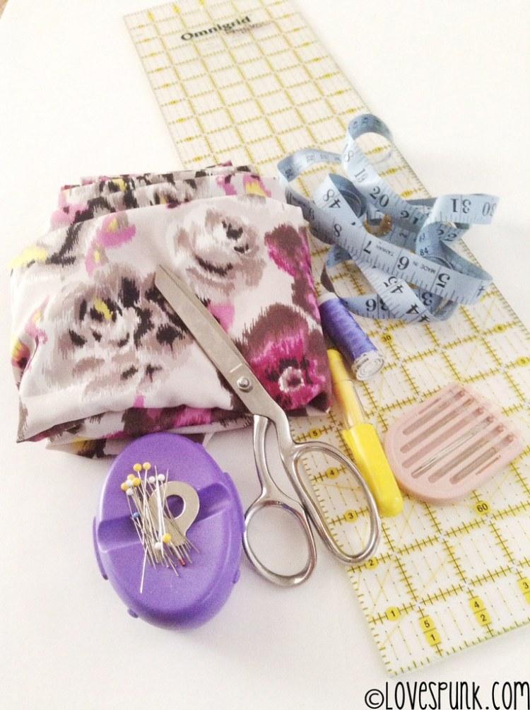 DIY Kimono Cardi supplies