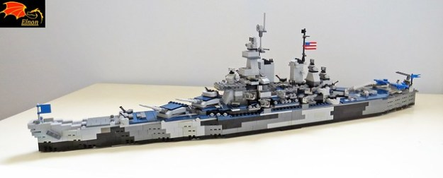 Battleship USS Missouri BB-63 - LEGO Model