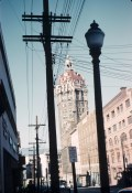 Sun Tower with Neon Sign, 1961 (note the dome is brick in colour)