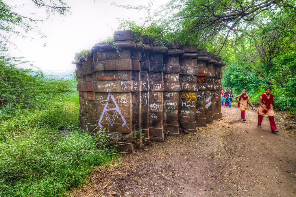 Temple at the Lonar lake