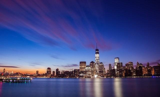 New York City Skyline Sunrise