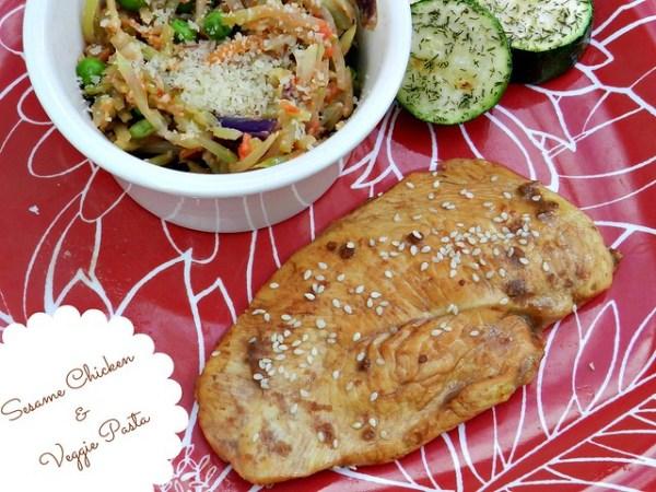 Sesame Chicken & Veggie Pasta (1)