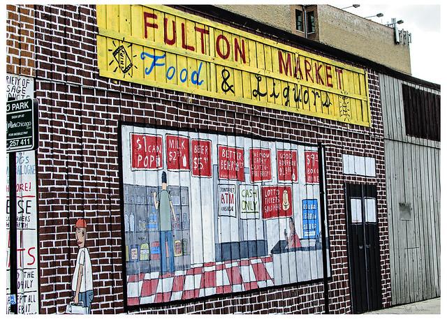 Fulton Market Food & Liquors - mural