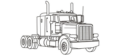 Kenworth T2000 Wiring Electrical Schematics Manual Pdf in addition Leaf Springs Parts furthermore Clipart 23988 likewise How To Draw A Truck And Trailer in addition 2006 Peterbilt 379 Headlight Wiring Diagram. on kenworth w900 trailer