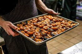 Grilled apricots for a chutney