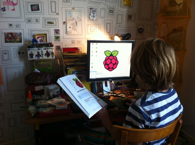 Louis set up his own Raspberry Pi