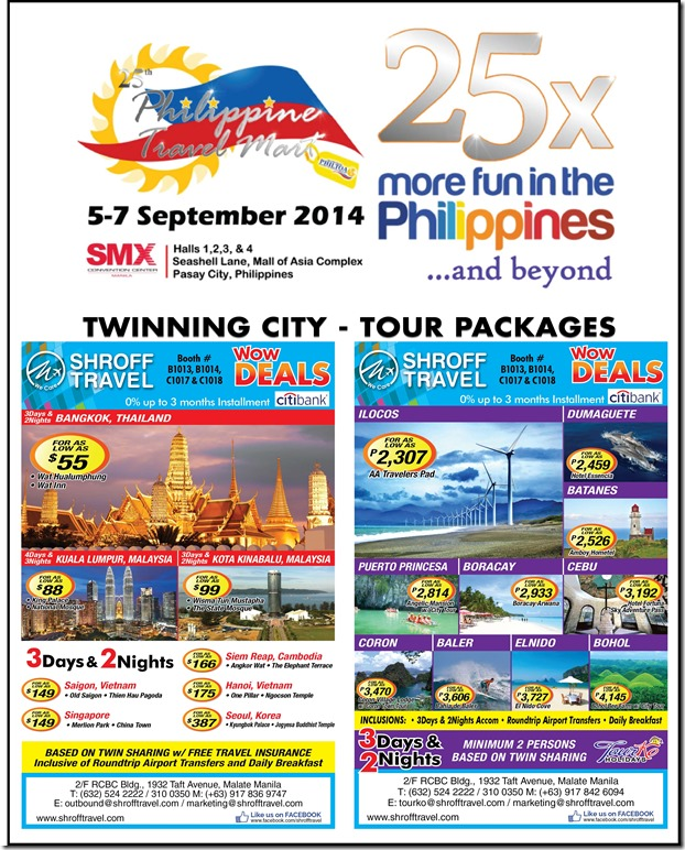 Shroff Travel - Philippine Travel Mart 2014